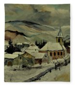 Snowy Landscape 780121 Fleece Blanket