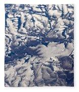 Snowy Landscape Aerial Fleece Blanket