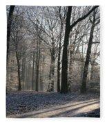 Mystical Winter Landscape Fleece Blanket