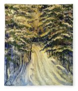 Snowy Lane Fleece Blanket