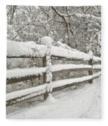 Snowy Morning Fleece Blanket