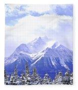 Snowy Mountain Fleece Blanket