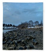 Snowy Obear Park, Beverly Ma, At Dusk Fleece Blanket