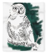 Snowy Owl II Fleece Blanket