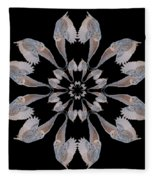 Snowy Owl Snowflake Fleece Blanket