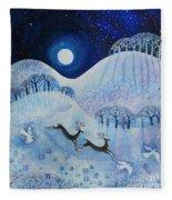 Snowy Peace Fleece Blanket