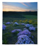 Snowy Phlox Sunset Fleece Blanket