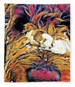 Snowy Pup Fleece Blanket