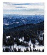 Snowy Ridges - Impressions Of Mountains Fleece Blanket