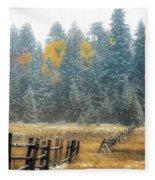 Snowy Silence Fleece Blanket
