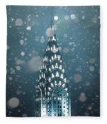 Snowy Spires Fleece Blanket