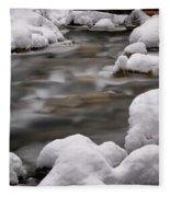 Snowy Stickney Brook Fleece Blanket