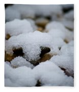 Snowy Stones Fleece Blanket