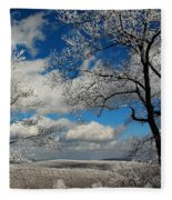 Snowy Sunday Fleece Blanket