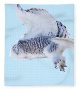 Snowy Take-off Fleece Blanket