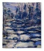 Snowy Trail Fleece Blanket
