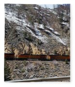 Snowy Train Fleece Blanket