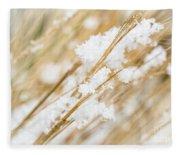 Snowy Weed Fleece Blanket