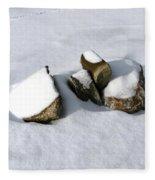 Snowy Zen Fleece Blanket