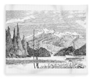 Snug Harbor Alaska Anchorage Fleece Blanket