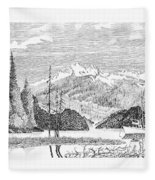 Snug Harbor Alaska Anchorage Fleece Blanket