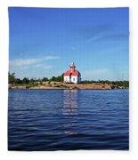 Snug Harbour Lighthouse Fleece Blanket