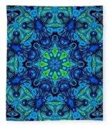 So Blue - 04v2 - Mandala Fleece Blanket