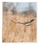 Soaring Hawk Over Field Fleece Blanket