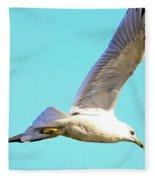 Soaring In A Blue Sky Fleece Blanket