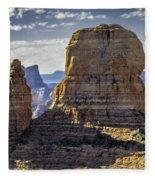 Soaring Red Rock Monoliths Fleece Blanket