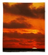 Socal Sunset Fleece Blanket