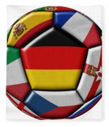 Soccer Ball With Flag Of German In The Center Fleece Blanket