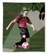 Soccer Style Fleece Blanket