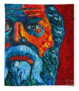 Socrates Look Fleece Blanket