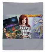 Sofia Goldber - About Mars Civilization. 5 Fleece Blanket