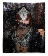 Sofia Metal Queen - Black Metal Bellydancer Model Fleece Blanket