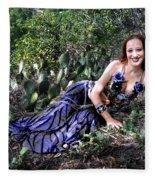 Sofia Of Ameynra. Cybergoth Belly Dancer Fleece Blanket