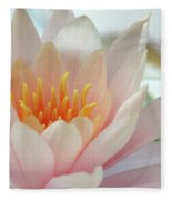 Soft And Delicate Water Lily Fleece Blanket