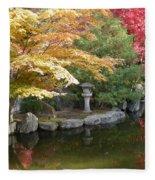 Soft Autumn Pond Fleece Blanket
