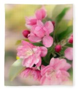 Soft Apple Blossom Fleece Blanket