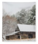 Soft Colors In The Snow Fleece Blanket