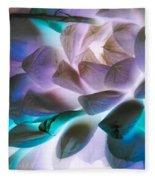 Soft Glow Succulents Fleece Blanket