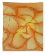Soft Golden Flow Fleece Blanket