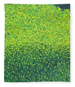 Soft Green Wet Trees Fleece Blanket