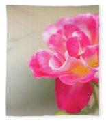 Soft As A Whisper Of A Hot Pink Rose Fleece Blanket