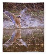 Soft Landing On The Pond Fleece Blanket