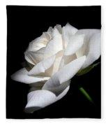 Soft Light White Rose Flower  Fleece Blanket