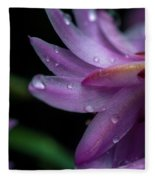 Soft Macro Of Purple Flower Fleece Blanket