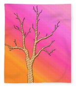 Soft Pastel Tree Abstract Fleece Blanket