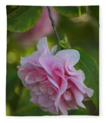 Soft Pink Camellia Fleece Blanket